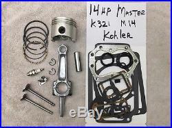 Master ENGINE REBUILD KIT FOR M14 or any K321 14hp KOHLER withvalves