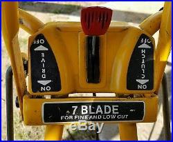 McLane 7-Blade Reel Lawn Mower 3HP Briggs & Stratton, 20 Blades Starts 1st Pull