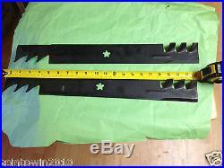 NEW SET OF 42 STAR HOLE CRAFTSMAN POULAN LAWN MOWER GATOR BLADES 134149 138971