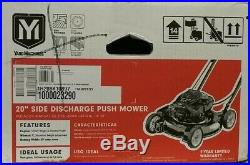 NEW! YardMachines 20 in. W 125 cc Manual-Push Lawn Mower