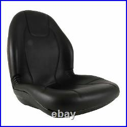 New Complete Tractor Seat 3010-0058 For Black Medium Back 15 Height