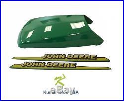 New John Deere Upper Hood With LH & RH Decal Set LT133 LT155 LT166 LTR155 LTR166