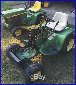 Pair Of 2 Vintage John Deere 110 Riding Garden Tractors Lawn Mower Local Pickup