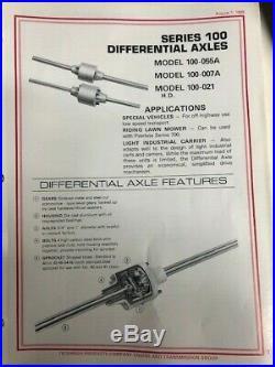 Peerless Tecumseh Series 100 Differential Axle