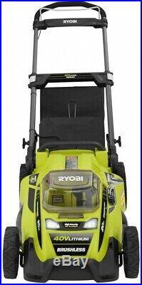 RYOBI Lawn Mower 40-V Brushless Li-Ion Cordless Battery 5.0 Ah Battery/Charger