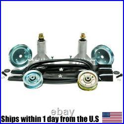 Rebuild Kit Spindles Belt Blades Pulleys Fits Craftsman Husqvarna DYT4000 42