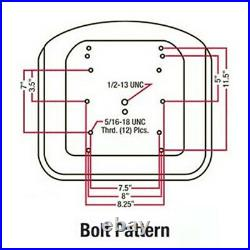 Replacement Seat Steel Pan Fits John Deere 316 318 322 330 332 420 430
