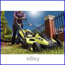 Ryobi Lawn Mower Corded Electric Walk Behind Push Grass Cutter Mulch Bagging 13