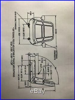 SEATS INC. 907 SERIES SEAT FOR JOHN DEERE, EXMARK, SCAG(Charcoal Gray) (14845)