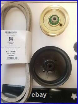 Sears Craftsman DYS 4500 42 Mower Deck Rebuild Kit Spindles Blades Belt Idlers