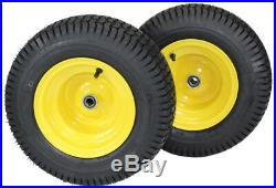 (Set of 2) 16x6.50-8 Tires & Wheels 4 Ply for Lawn & Garden Mower Turf Tires FR