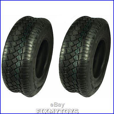 Set of 2 Turf Tires 15x6-6 Tubeless 4 Ply John Deere Cub Cadet Lawnmower Tractor