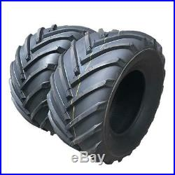 Set of Two 24x12-12 Lawn Mower Turf Tires Tubeless 4PR P328 Max load1710Lbs