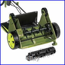 Sun Joe AJ801E Electric Lawn Dethatcher + Scarifier with Collection Bag 13 inch