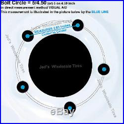 TWO 12 12x8.5 5/4.5 RIM WHEEL Zero Turn Riding lawn Mower Compact Tractor 12mm