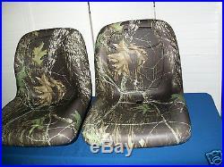 TWO (2) MOSSY OAK/CAMO SEATS FOR JD JOHN DEERE GATOR, 4x2,6x4,4x4, XT, JD TURF #JZ