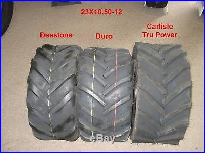 TWO New Deestone 23X10.50-12 Tractor Lug Tires 6 ply