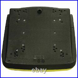 Tractor Yellow 18 High Back Bucket Style, Plastic Pan Seat with DrainSeat