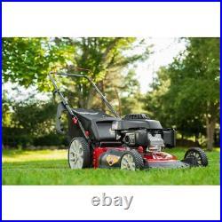 Troy-Bilt 160 cc Honda Gas Walk Behind Push Mower with High Rear Wheels 21 in