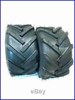 Two 20x10-8 Lug R1 FieldMaster Tires Lug AG Lawn Tractor Tires 20 10 8