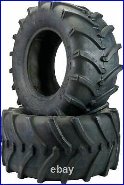 Two 23x10.50-12 Lawn Trac Tires Lawn Tractor Lug R-1 R1 OTR 23 1050 12 Tractor