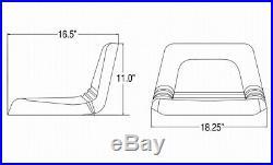 Universal Low Back Lawn Mower Seat fits John Deere Lawn Mowers