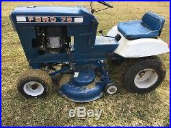 Vintage FORD LT75 MOWER TRACTOR 8HP DECK Runs Drives Rare graden lawn