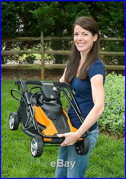 WG782 WORX 14 24-Volt Cordless Lawn Mower with IntelliCut