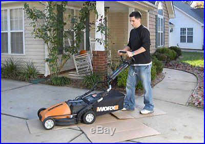 WG788 Worx 19-Inch 36V Cordless Lawn Mower With Removable Battery & IntelliCut