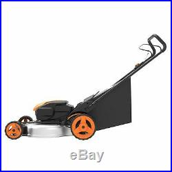 WORX WG751 2X20V 20 Cordless 5.0ah Lawn Mower with Mulch Plug and Side Discharge