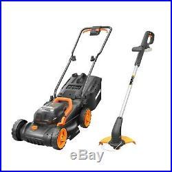 WORX WG927E 34cm Dual Battery 36V Lawn Mower & 18V Cordless Grass Trimmer