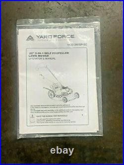 Yard Force YF22-3N1SP-SC Self-Propelled Walk-Behind Lawn Mower