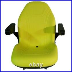 Yellow Seat Fits John Deere X485 X495 X575 X585 X595 X720 X724 X740 X748 X729 74