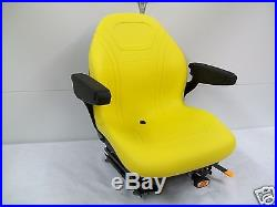 Yellow Suspension Seat, Hustler, Exmark, Toro, Bobcat, Bunton, John Deere, Ztr, Jd #hg
